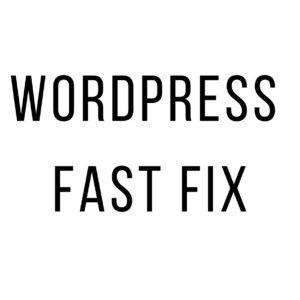 wordpress-fast-fix