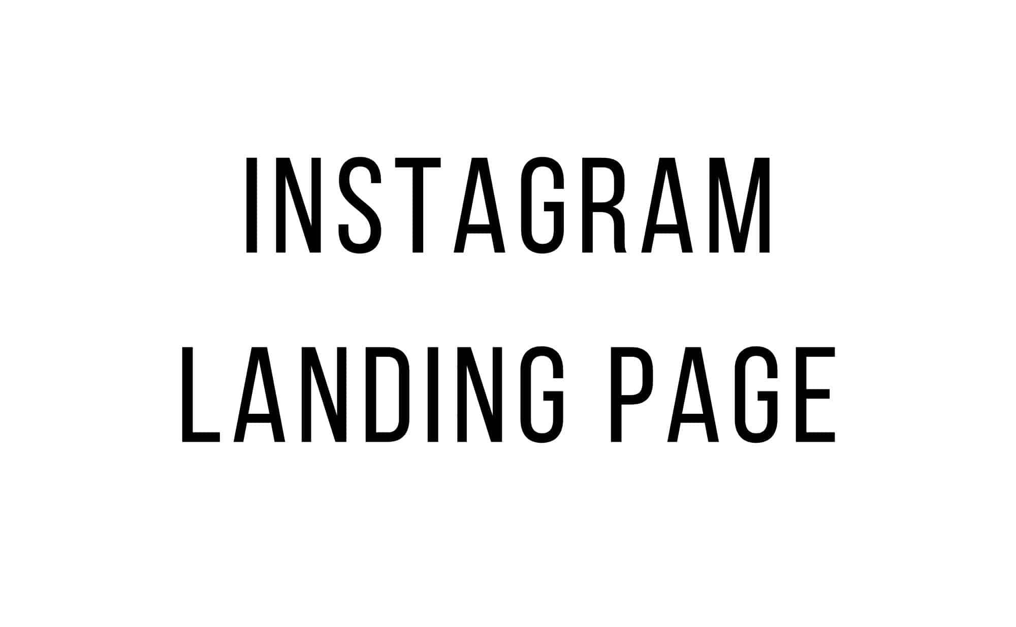 instagram landing page creation service