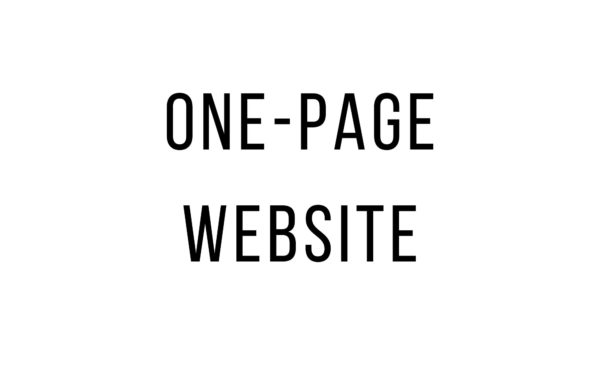 one page website service